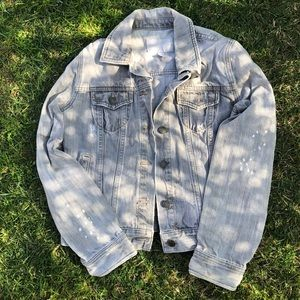 Old navy grey distressed jean jacket